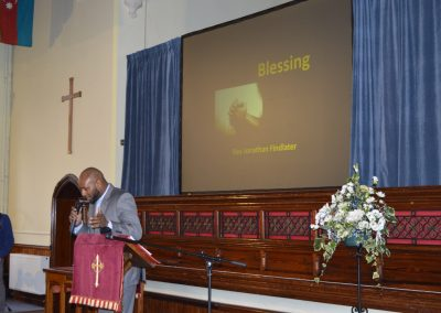 Final blessing by Rev Jonathan Findlater